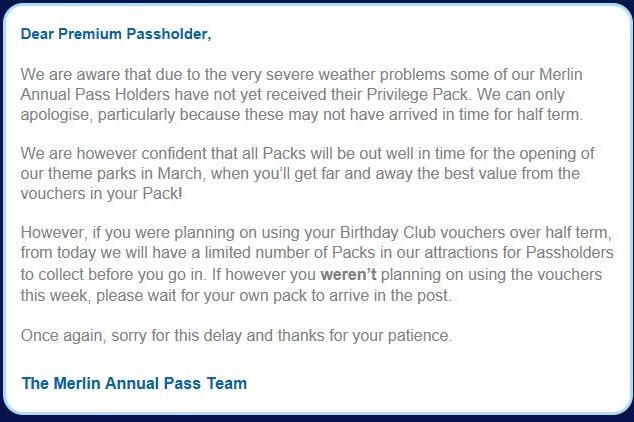 Annual Pass Update