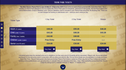 Alton Towers - Tickets