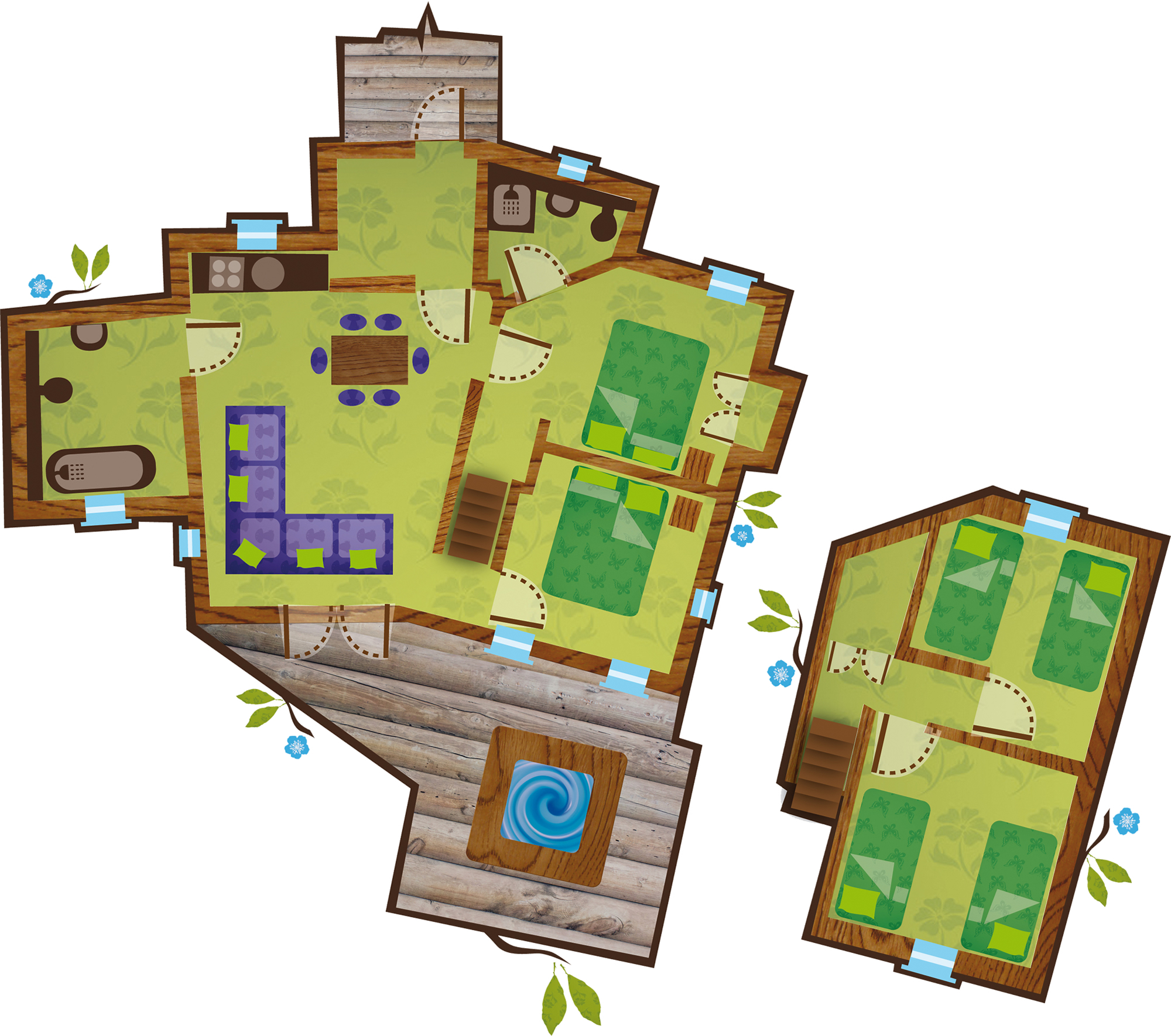Luxury treehouses towerstimes for Floor planes