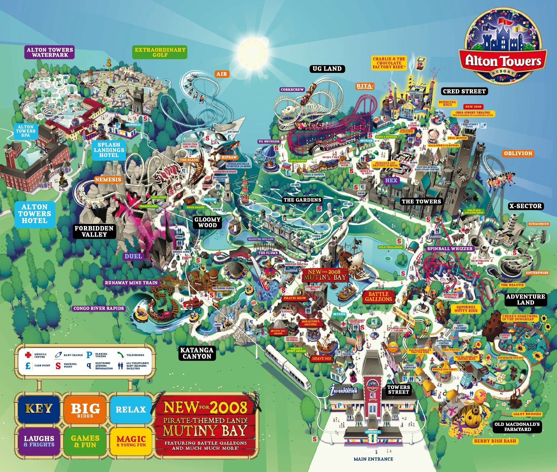 Alton Towers Maps Old Park Maps   TowersTimes