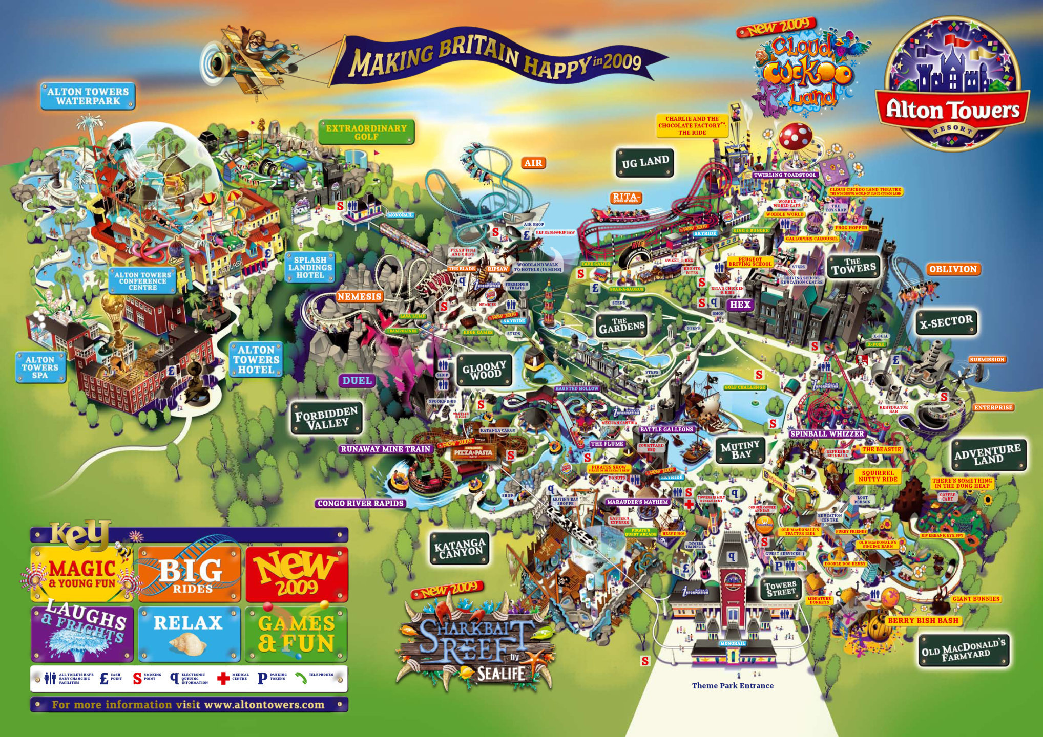 Map Of Alton Towers Old Park Maps   TowersTimes