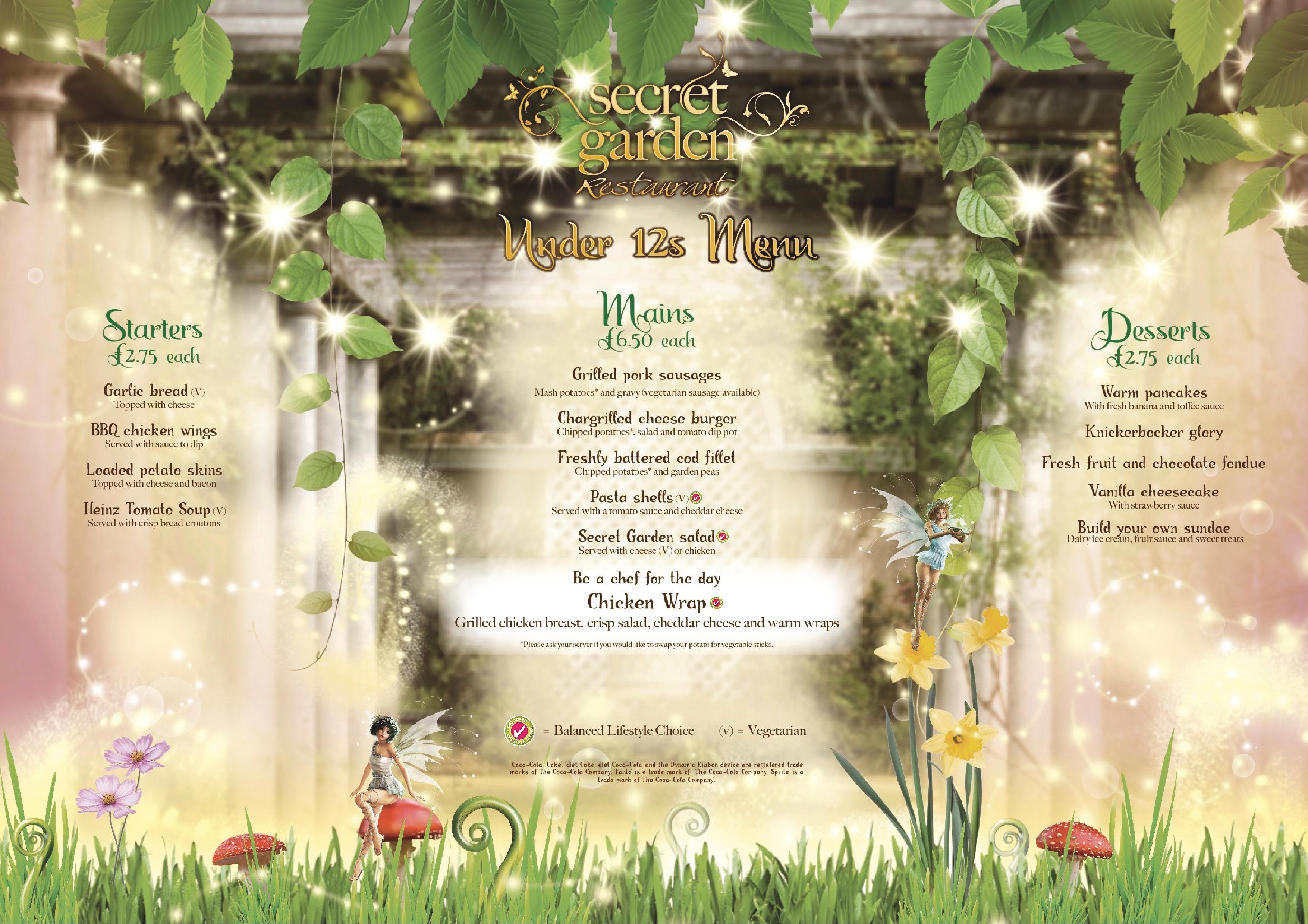 Secret Garden Restaurant Alton Towers Menu