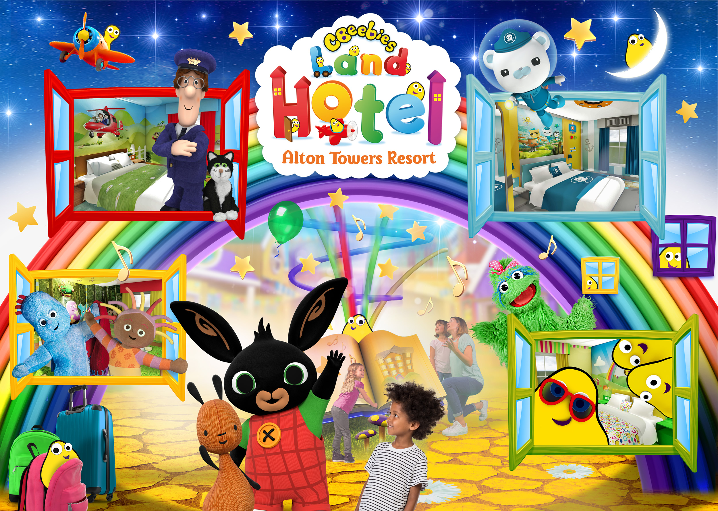 Cbeebies Land Hotel Assisted Bugbies Room