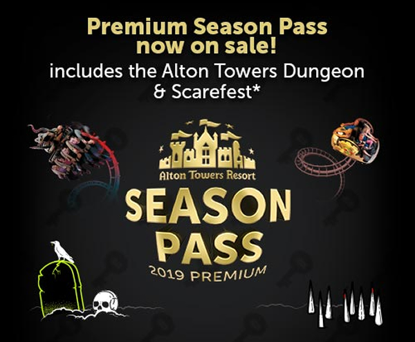 Alton Towers Resort Launch Premium Season Pass